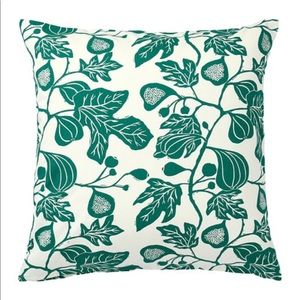 IKEA ALPKLOVER Pillow Cushion Cover Green Leaves